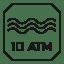 Resistencia al agua – 10 ATM